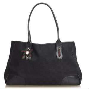 Gucci Princy Canvas and Leather Handbag